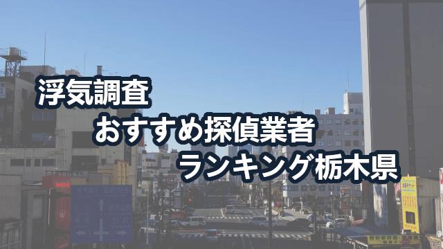 栃木県のおすすめ探偵ならココ!【浮気調査】人気探偵社5選