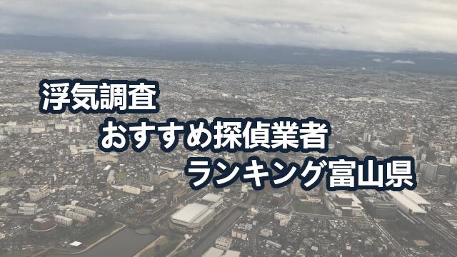 富山県で確かな証拠を掴む!浮気調査のおすすめ探偵・興信所【動画比較】